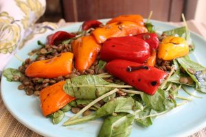lentil-salad-grilled-peppers