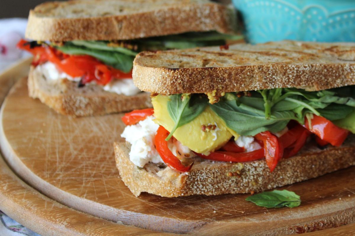 Rustic sandwich with sweet potato citrus salad - Chef Zissie Recipes