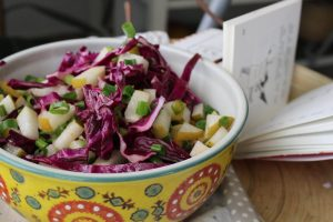 asian-pear-purple-cole-slaw-scallions-toasted-sesame-rice-wine-vinegar