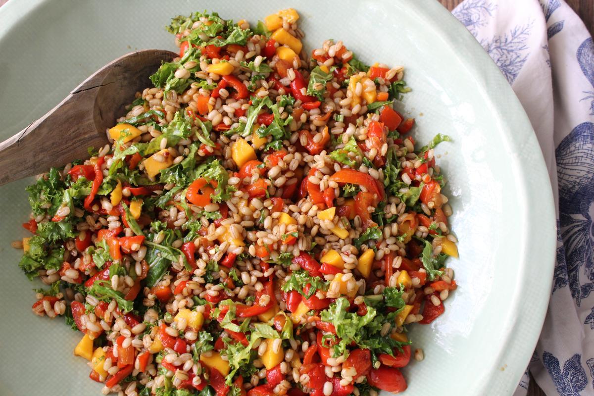 mango-kale-barley-salad-toasted-sesame-dressing