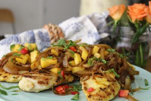 grilled-chicken-mango-chutney