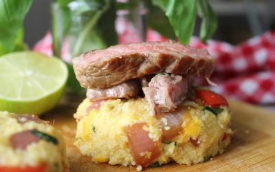 Minute steak and couscous patties