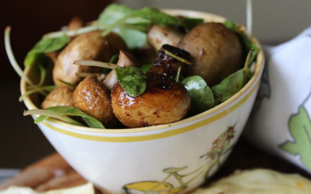Mushroom rosemary salad