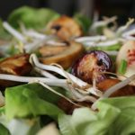 nectarine-salad-sprouts-mushrooms-butter-boston