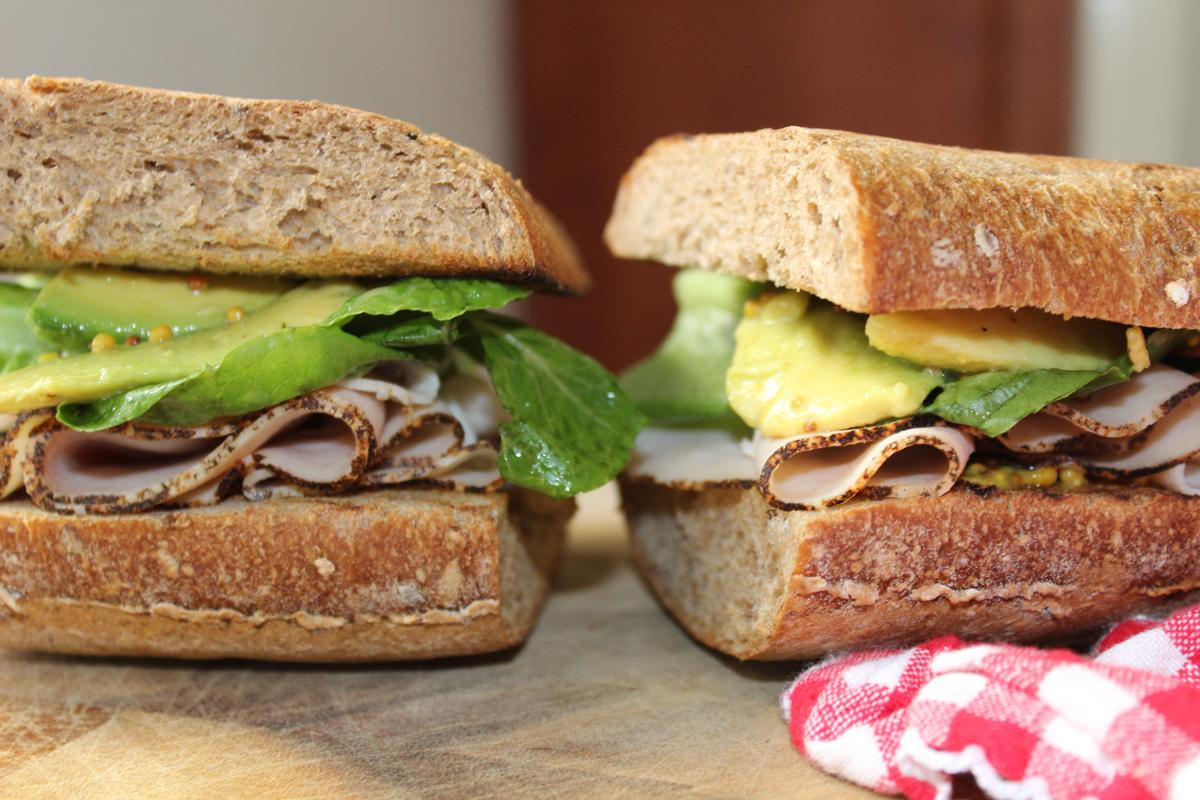 turkey-sandwich-avocado-honey-mustard