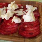 beet-carpaccio-honey-goat-cheese-balsamic