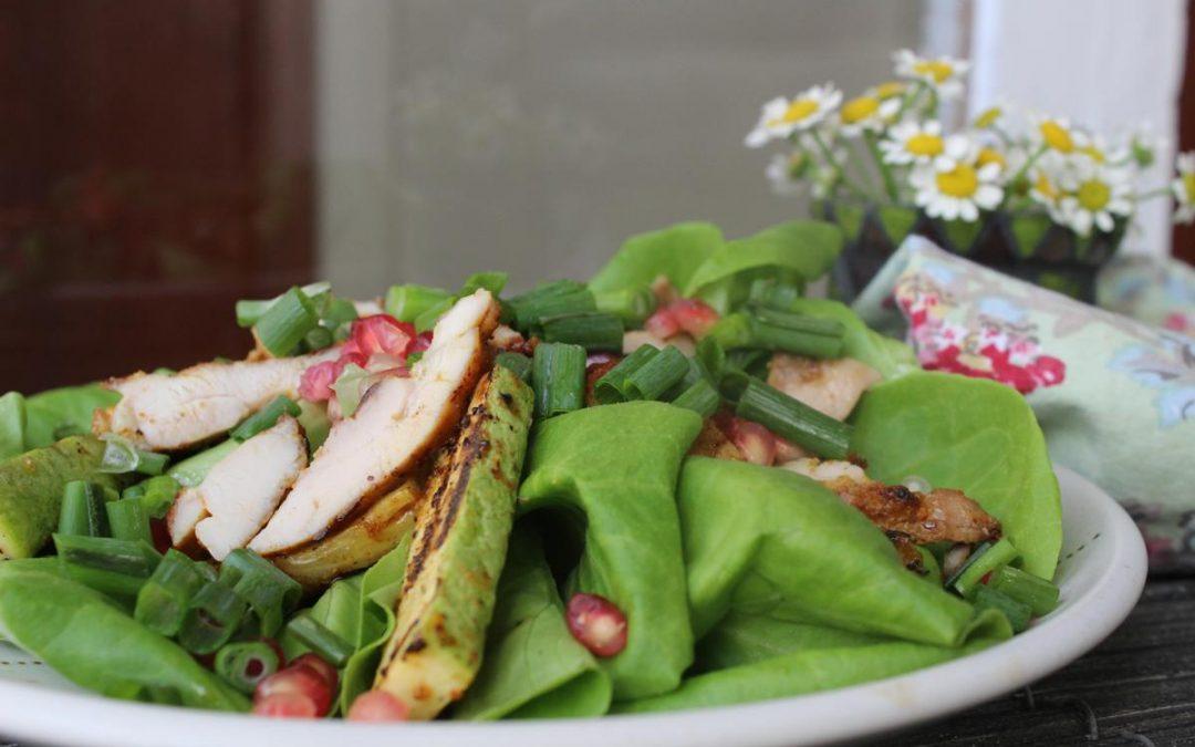 Grilled Zucchini chicken salad