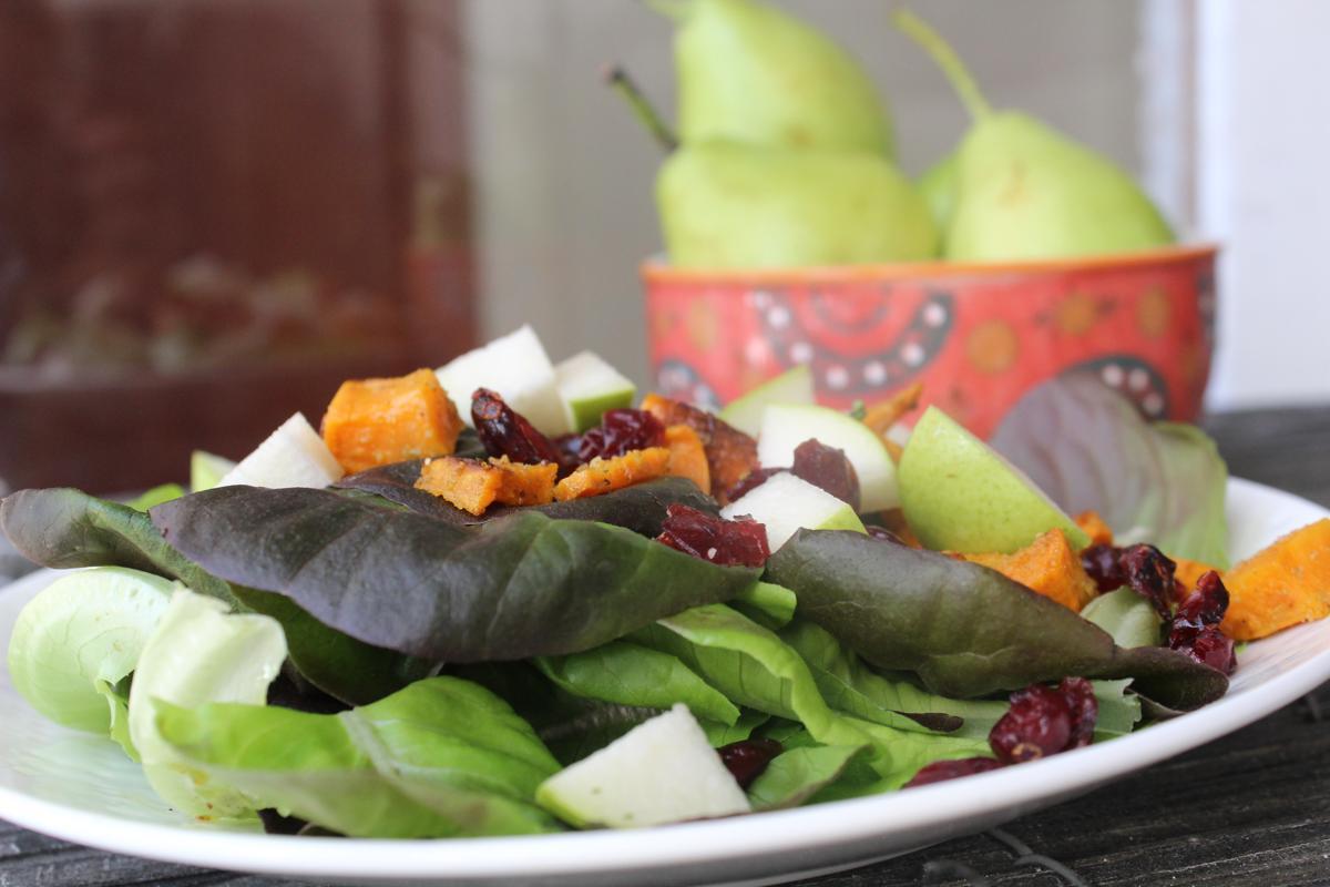 pear-sweetpotatoes-cherries-salad