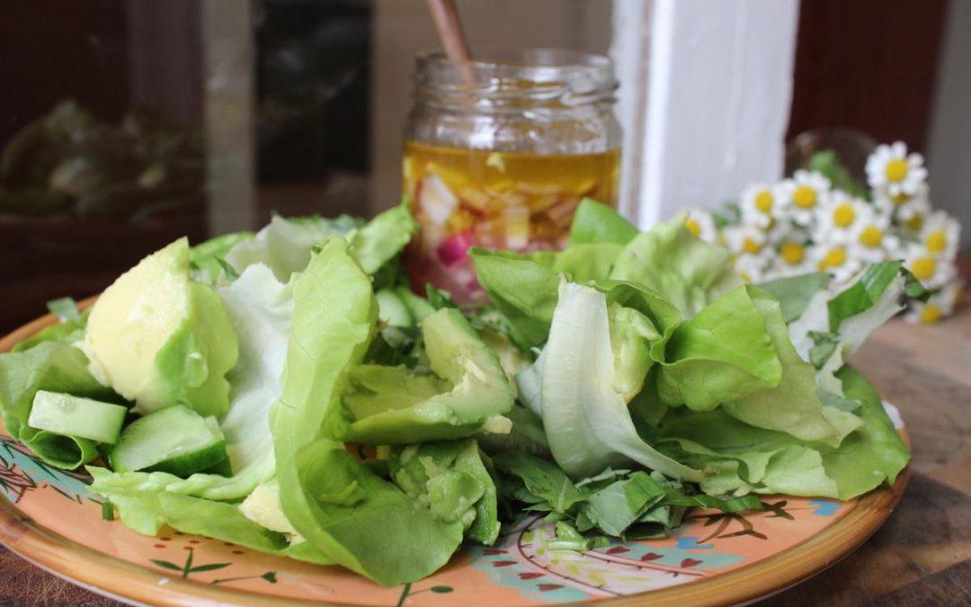 Avocado lemon salad
