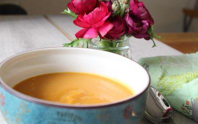 Butternut squash soup and lemon apple couscous