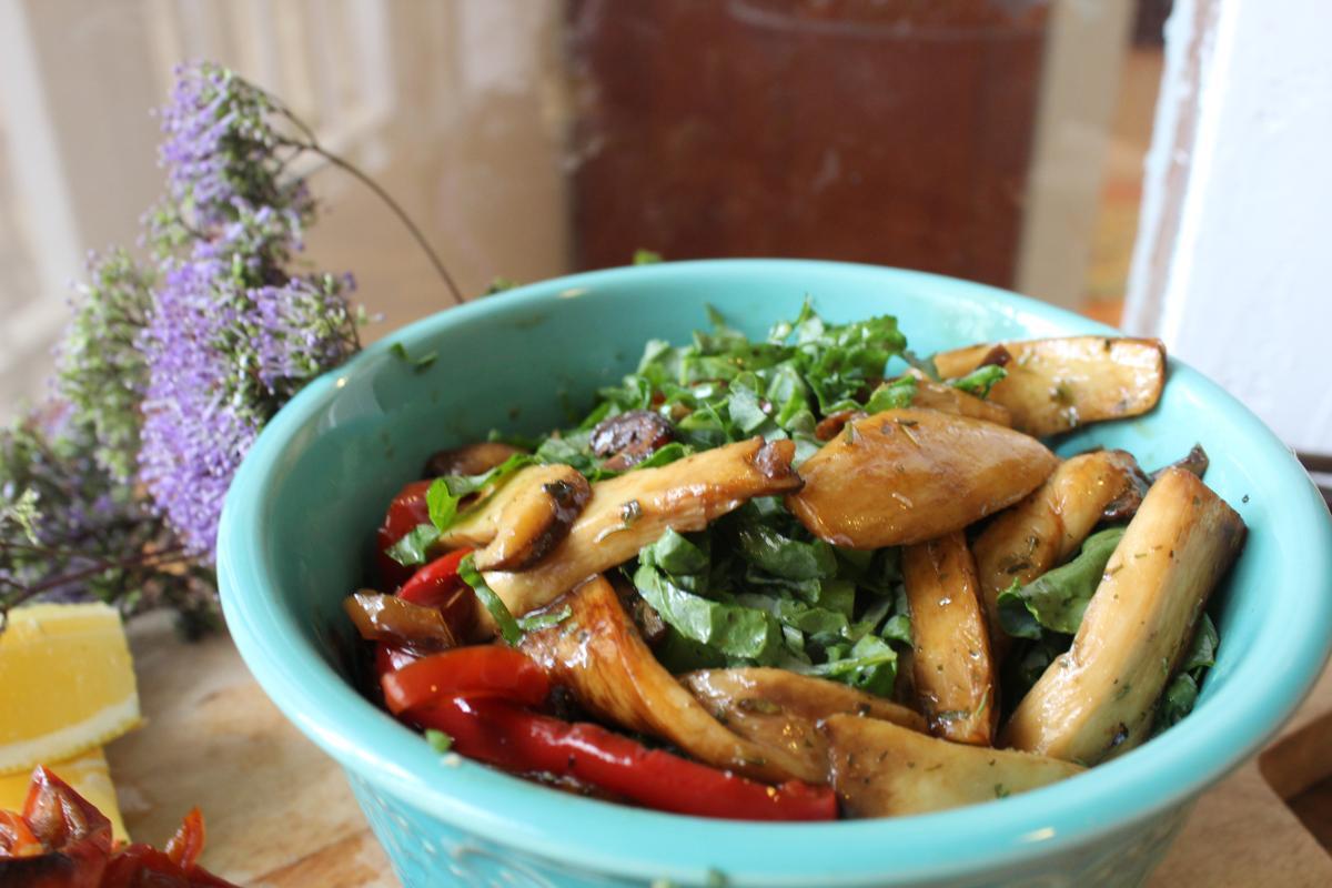king-oyster-mushroom-salad