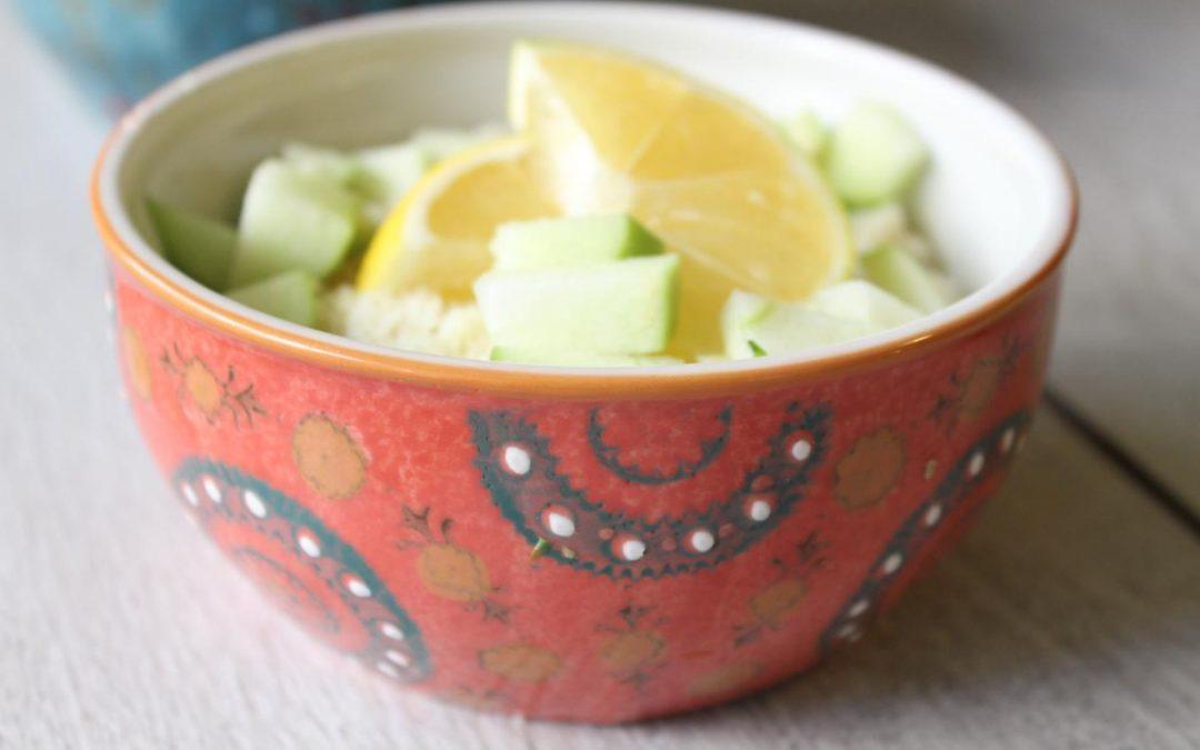 Lemon apple couscous