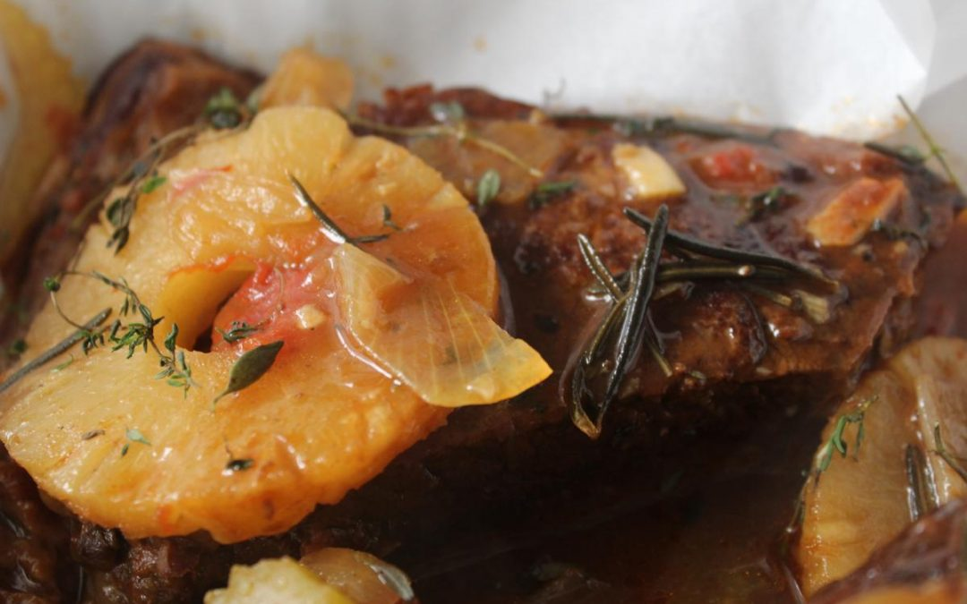 Pineapple braised roast