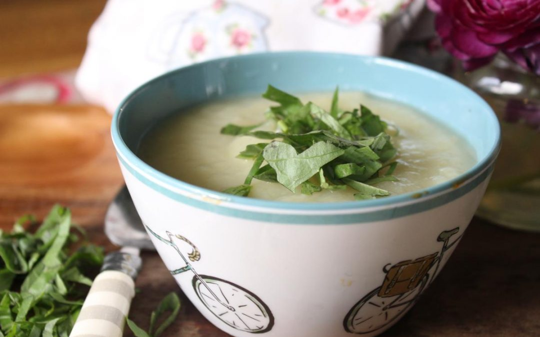Potato basil soup
