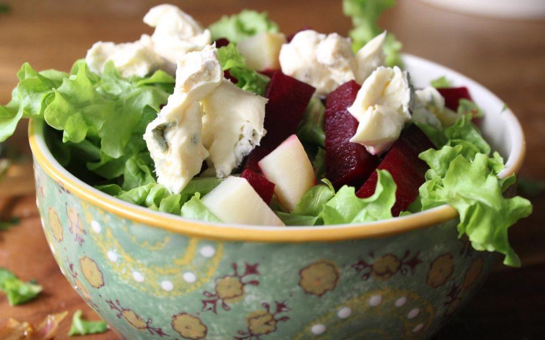Beet Roquefort salad