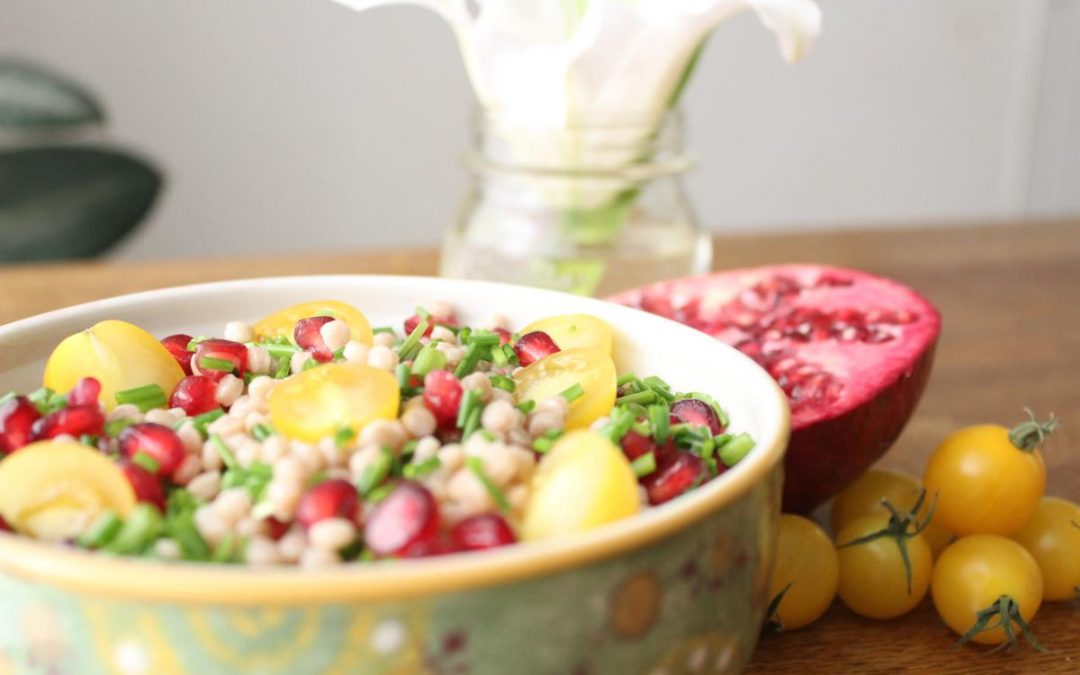 Couscous pomegranate salad