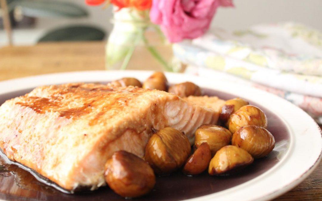 Miso chestnut salmon
