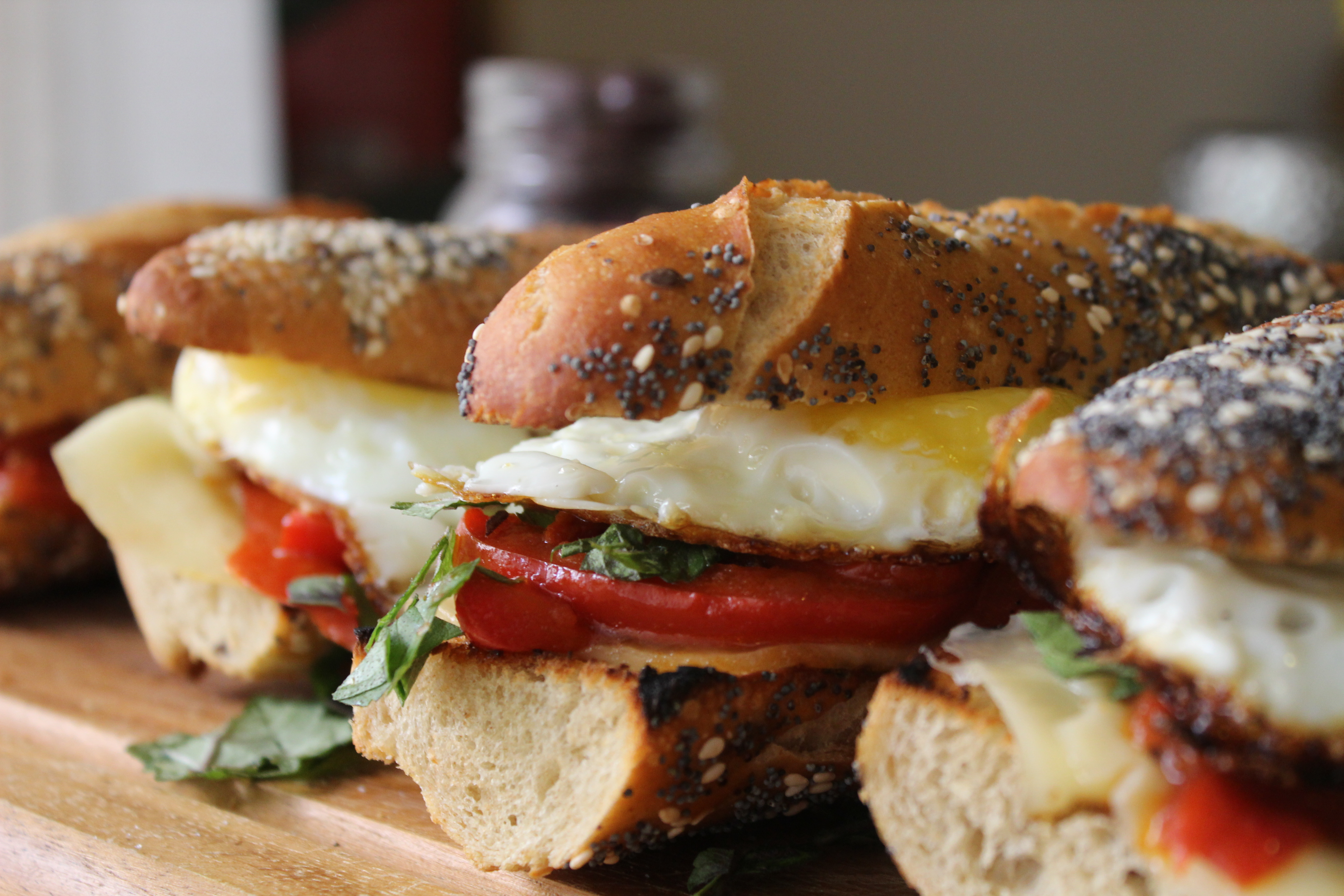 Sunny sandwiches and pea shoot salad - Chef Zissie Recipes