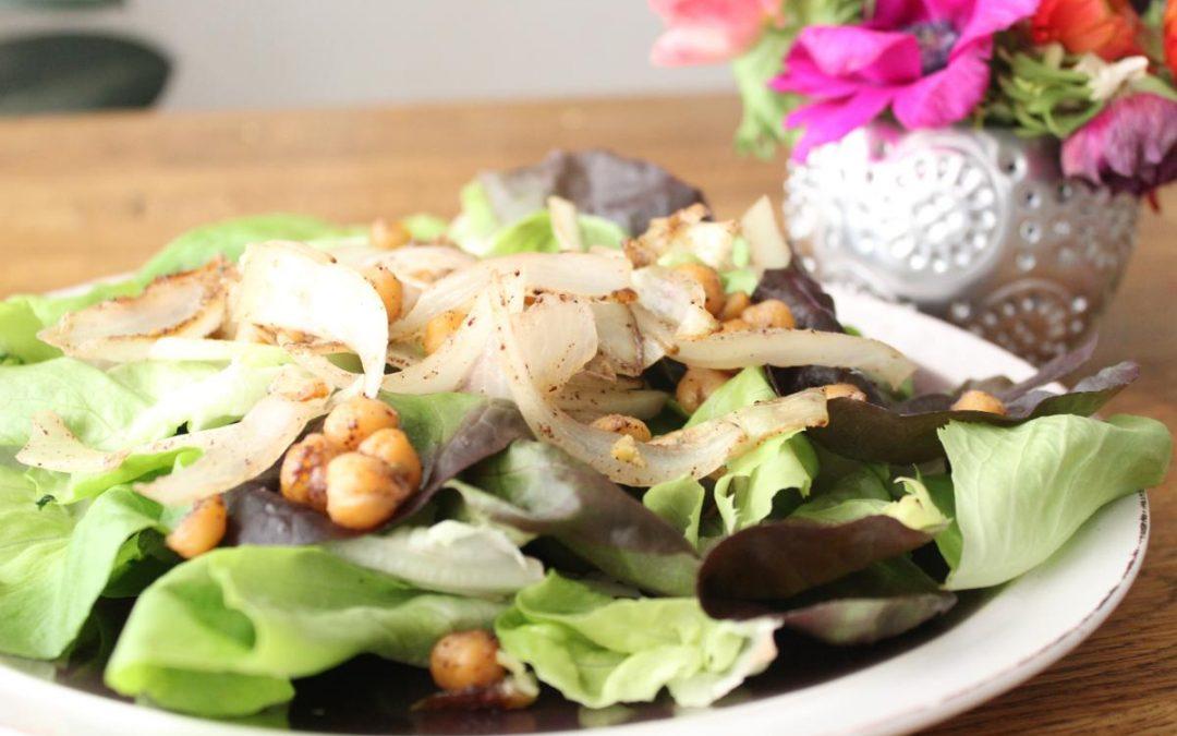 Za'atar chickpea salad