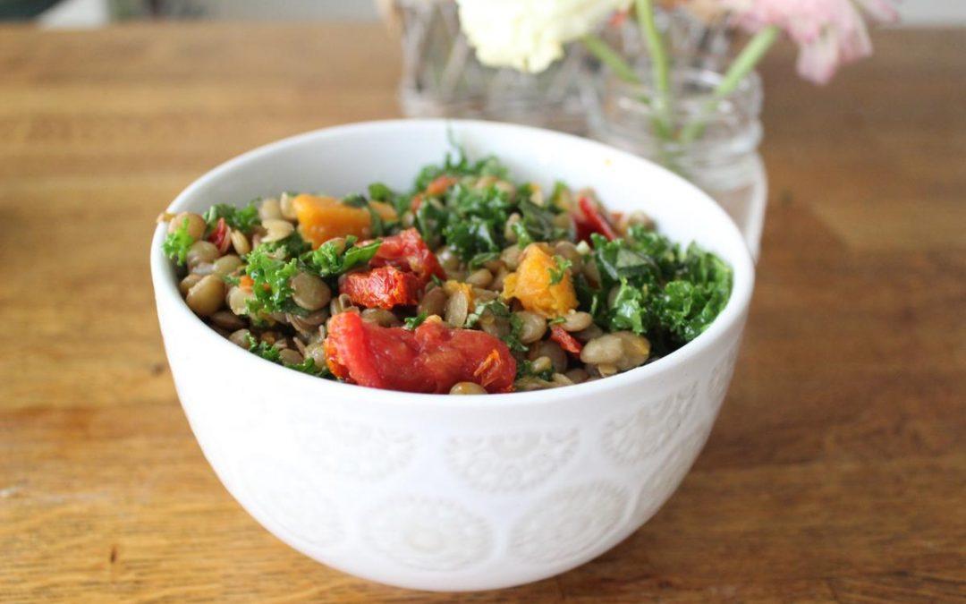 Lentil basil salad