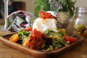 poached-egg-lentil-salad