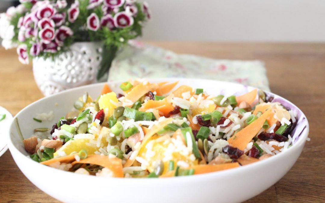Pumpkin seed rice salad