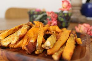 Jerusalem artichoke and butternut squash fries