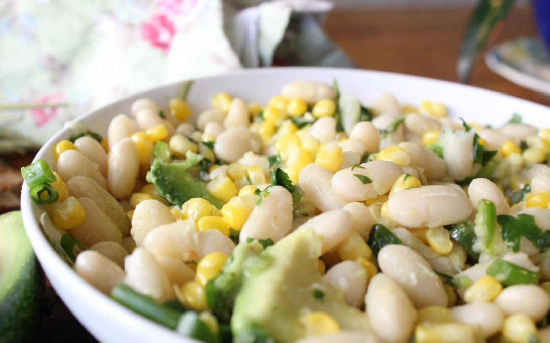 Corn white bean salsa