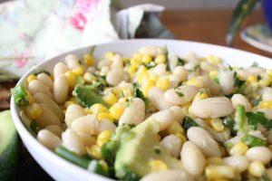 Corn white bean salsa