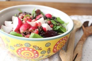 Radish marinated onion salad