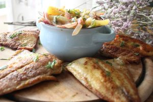 Pineapple red mullet fish