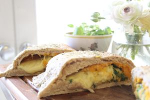 Sweet potato cheese calzones
