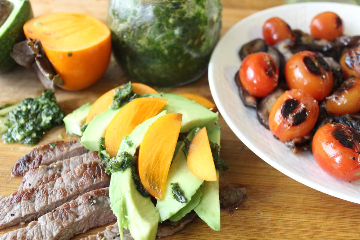 steak-avocado-roasted-tomato-salad