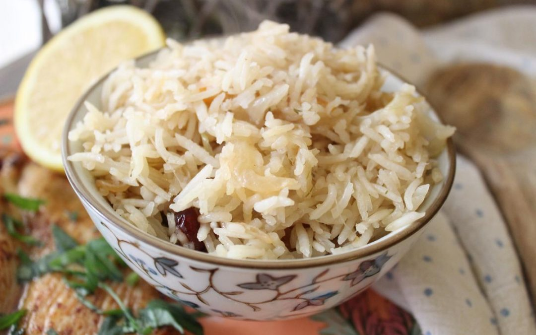 Chai infused rice