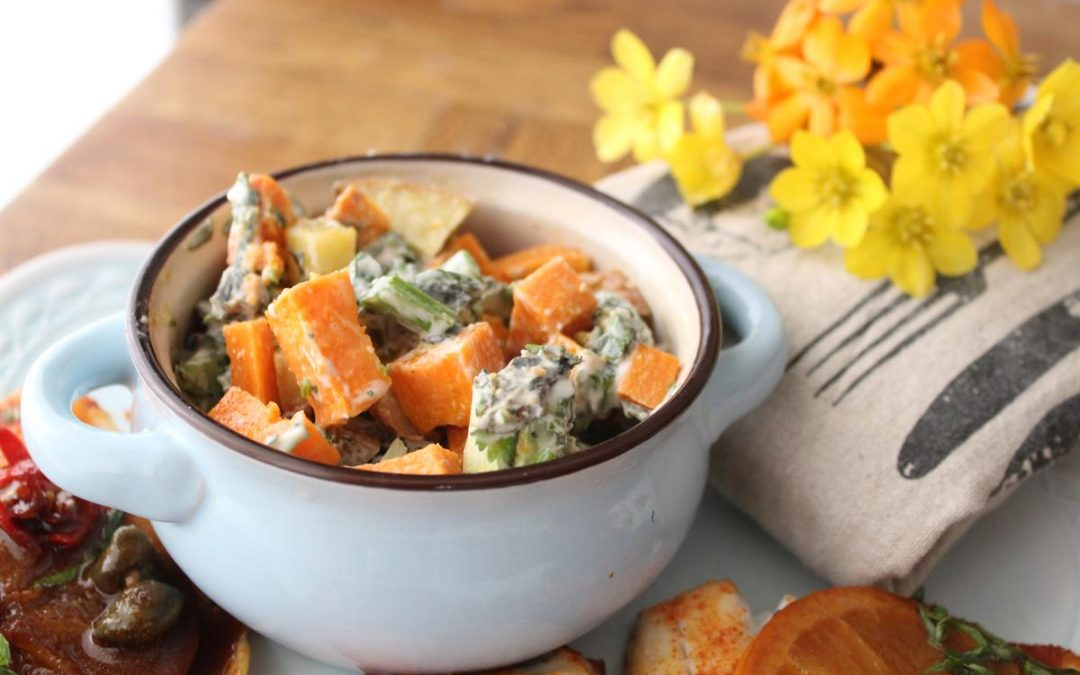 Yogurt sweet potato salad