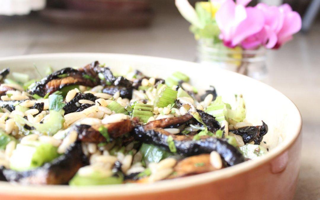 Orzo celery salad
