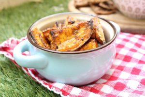 World spiced sweet potato wedges