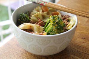 Asain-meat-pasta
