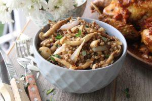 Kasha mushroom salad