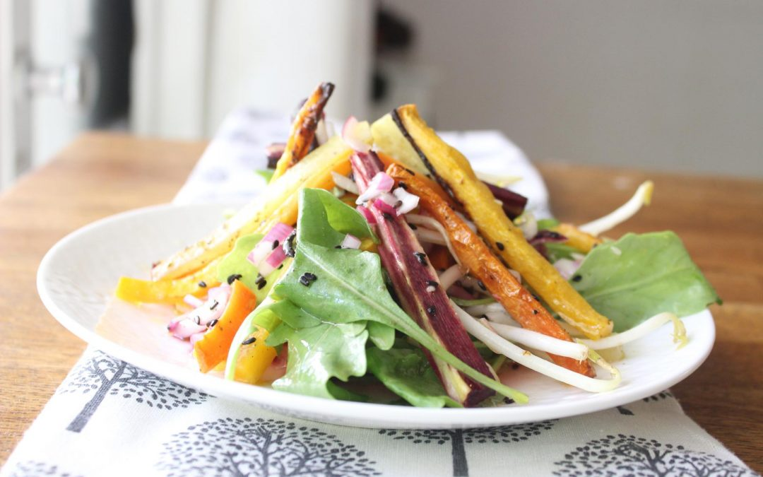 Colorful carrot salad