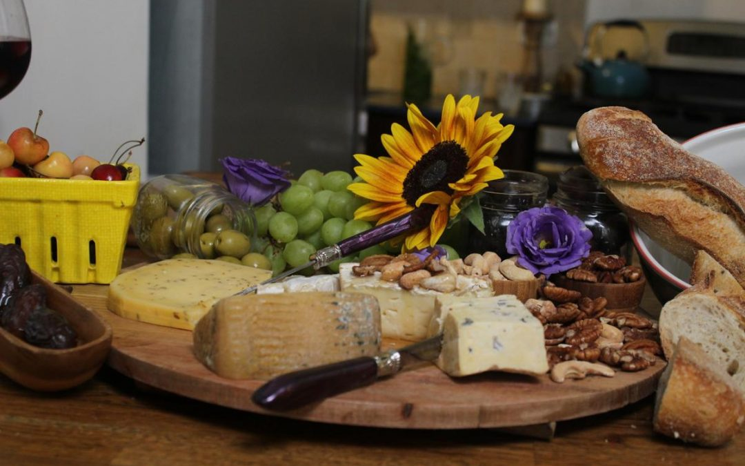 Easy fancy five minute cheese platter