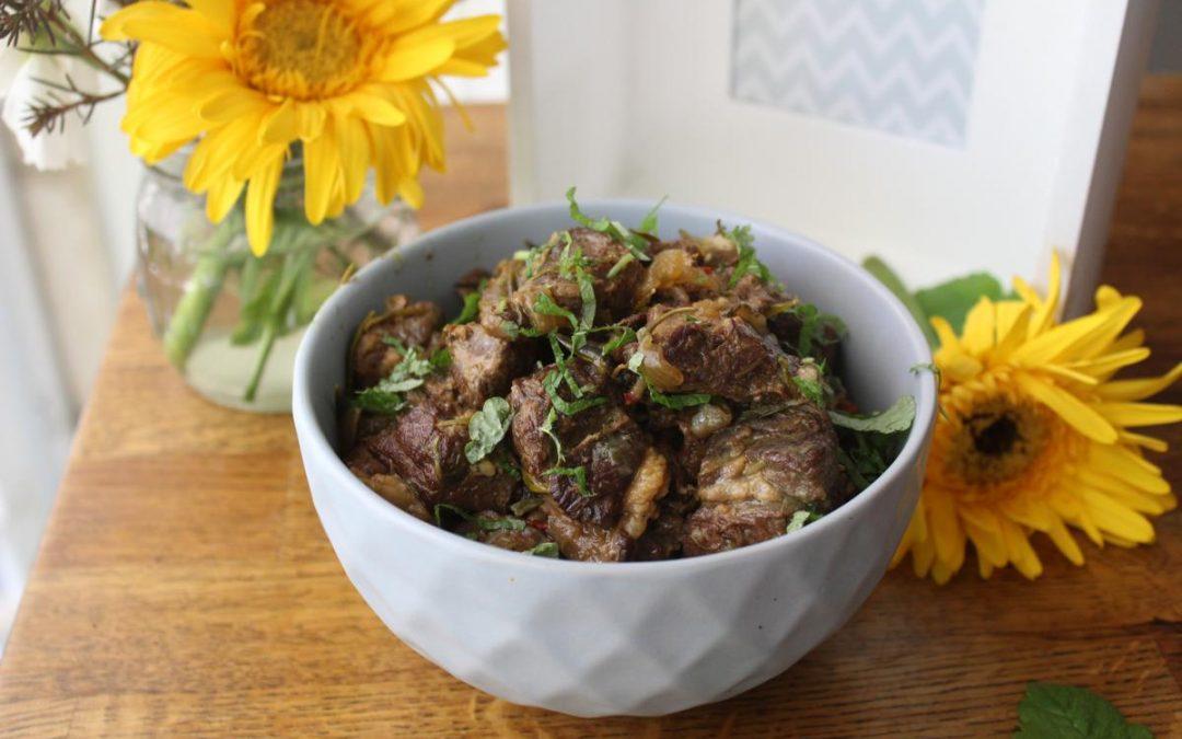 Persian lamb stew (Ghormeh Sabzi)