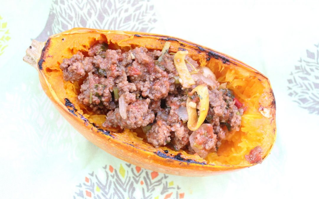 Spaghetti squash with perfect meat sauce