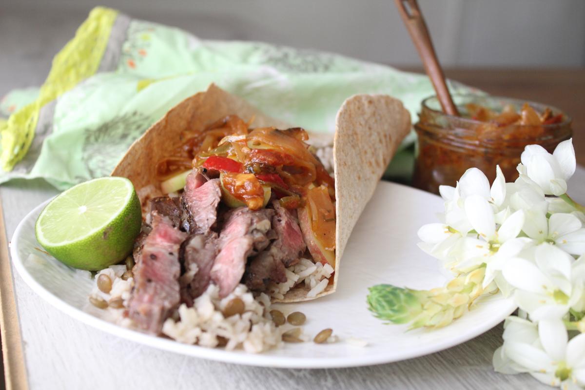 steak-tacos-lentil-rice