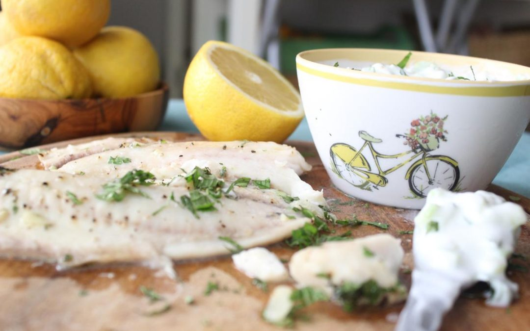 Fish with Tzatziki