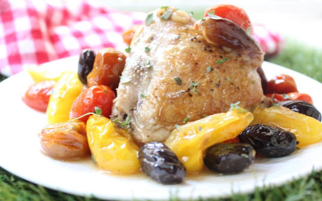 Tomato olive chicken