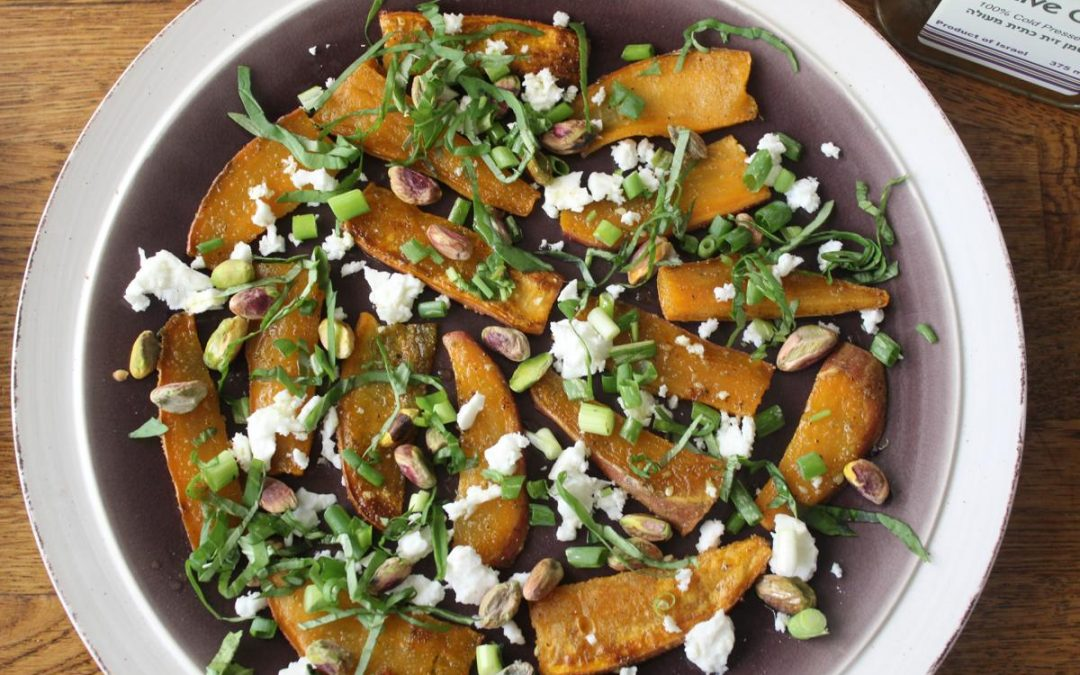 Black sesame sweet potato salad